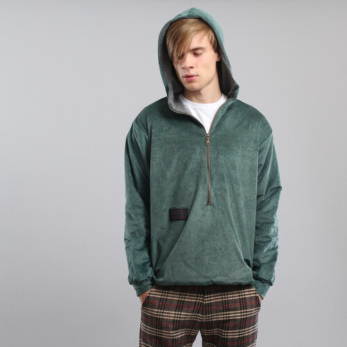 My Dear clothing Velvet Hoodie zelená - Glami.cz aa762976c7