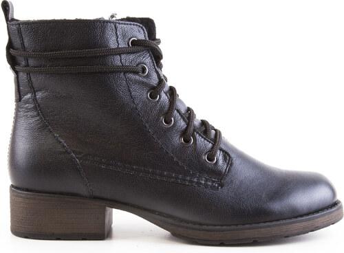 Rieker - Dámské kožené zateplené kotníkové boty se šněrováním a se zipem  Z9531-14   4b7d125e69
