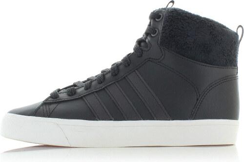 adidas CORE Dámské černé kožené kotníkové tenisky ADIDAS Cloudfoam Daily QT  Winter 4dad9b0476