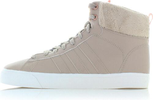 adidas CORE Dámske béžové kožené členkové tenisky ADIDAS Cloudfoam Daily QT  Winter 349838bab6