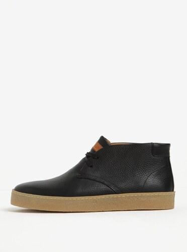 Černé pánské kožené kotníkové boty Tommy Hilfiger Logan - Glami.cz 9f5c3215ea0
