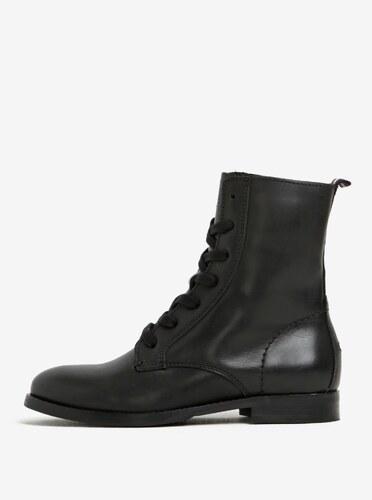 217bba0540 Čierne dámske kožené členkové topánky Tommy Hilfiger Genny - Glami.sk