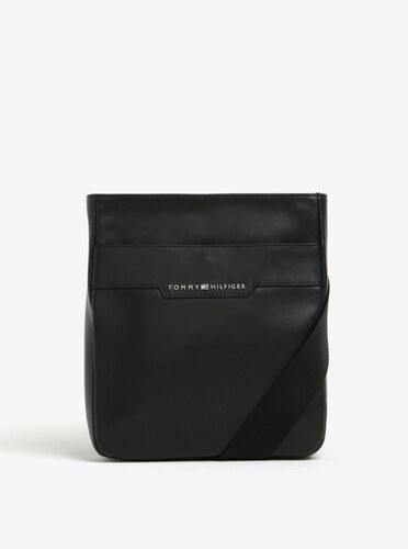 Černá pánská kožená crossbody taška Tommy Hilfiger Smooth - Glami.cz 99e440f801
