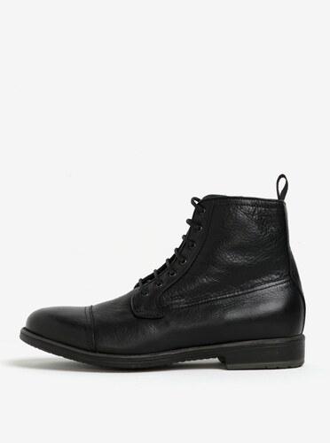 036e6665d8bf Čierne pánske zateplené kožené topánky Geox Jaylon - Glami.sk