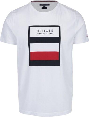 5ed7d930ef Biele pánske tričko s potlačou Tommy Hilfiger Norman - Glami.sk