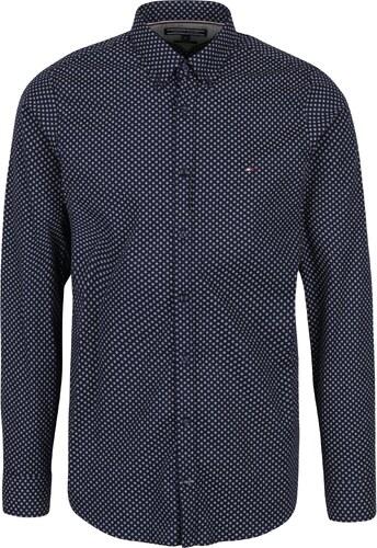 d5c347a06f2 Tmavě modrá pánská vzorovaná slim fit košile Tommy Hilfiger Ranger ...