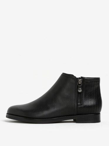 Černé dámské kožené kotníkové boty Geox Promethea - Glami.cz 139065023c