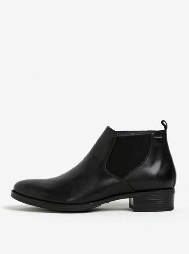 c0b5e0cdb512 Čierne dámske kožené chelsea topánky Geox Mendi - Glami.sk