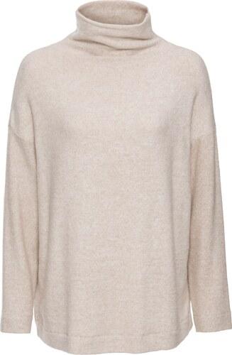 44e79e131ebb0 BODYFLIRT Softer Rollkragen-Pullover langarm in beige für Damen von bonprix