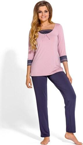 Babella Medine elegáns női pizsama rózsaszínes-lila - Glami.hu 083debe4b3