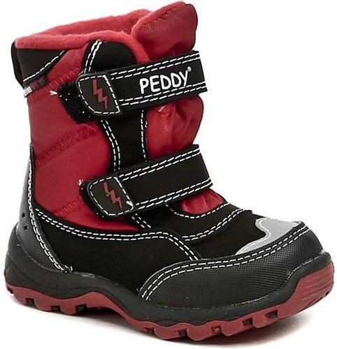 Peddy PT-631-25-15 černo červené dětské zimní boty - Glami.cz b963550d8b