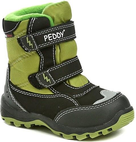 Peddy PT-631-28-15 černo zelené dětské zimní boty - Glami.cz b89795f50c