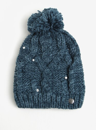 Petrolejová dámská pletená čepice s kamínky Roxy Shoot Star - Glami.cz edd0023ee0