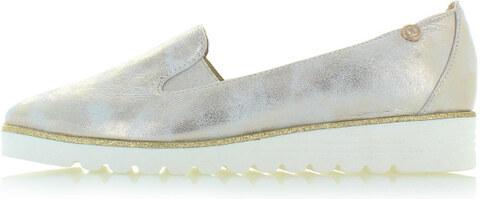 b07e472061 Olivia Shoes Zlato-biele kožené platformové mokasíny Gala - Glami.sk