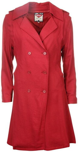 Lee Cooper Trench Coat dámské Red 95d22e05f8