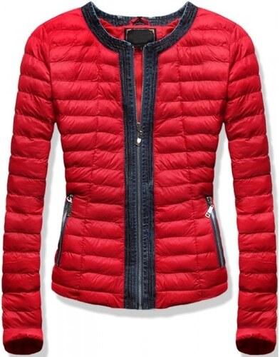 MODOVO Női steppelt kabát kapucni nélkül LD-7163 piros - Glami.hu df81dc478d