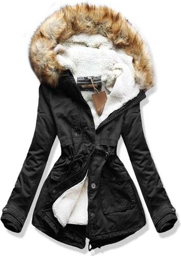 MODOVO Dámska zimná bunda s kapucňou B3335 čierna - Glami.sk 9011e5142b3