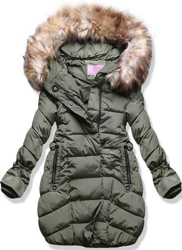 MODOVO Dámska zimná bunda s kapucňou W592 khaki - Glami.sk caf870bf5aa