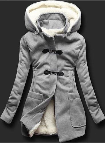 MODOVO Hosszú női kabát kapucnival 8253 szürke - Glami.hu ec74249431