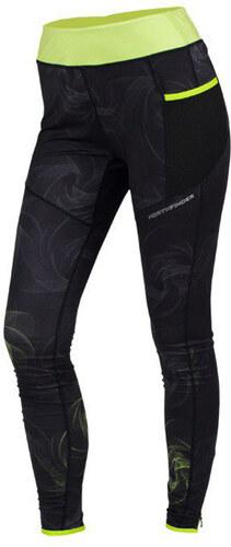 NORTHFINDER CARINA Dámske bežecké nohavice NO-4265SII273 čierno-zelená 3c85080a686