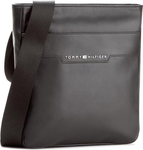 Brašna TOMMY HILFIGER - Smooth Leather Mini Flat Crossover AM0AM02633 002 f69926bdf2