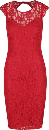 Červené čipkové puzdrové šaty AX Paris - Glami.sk 8ddbef5a980