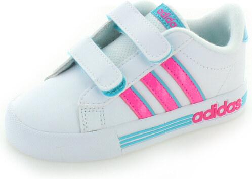 adidas NEO Dětské bílo-růžové tenisky ADIDAS Daily Team Infant ... 00f40cb95a