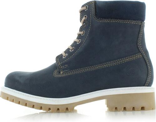 34c76a1b643ec Klondike Tmavomodré kožené členkové topánky Brisha - Glami.sk