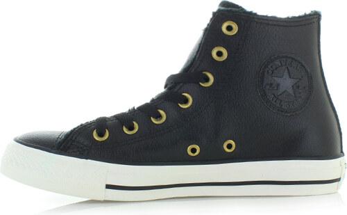 Converse Dámské černé vysoké tenisky Chuck Taylor All Star Leather and Fur 3609e10c5d