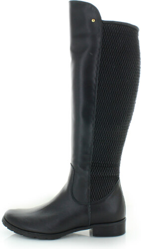 Olivia Shoes Čierne kožené čižmy Lynne - Glami.sk edb4d1aad22