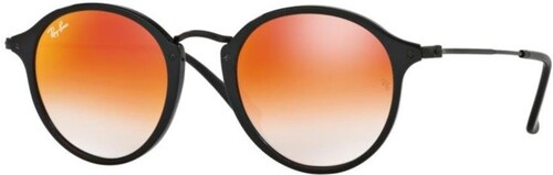 Ray-Ban - Mod. 2447 - Lunettes De Soleil Homme, shiny black (shiny  black) Red Gradient Mirror, taille 49 b2b215a7f9db
