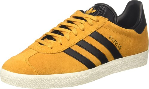 adidas Gazelle, Sneakers Basses Mixte Adulte, Jaune (Yellow F17/Core Black/Gold Met), 41 1/3 EU