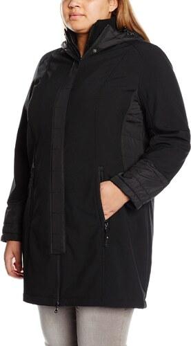 ulla popken damen jacke wetterparka mit kapuze schwarz. Black Bedroom Furniture Sets. Home Design Ideas