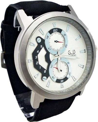 Pánské hodinky G.D Extra černo-bílé 103P - Glami.cz 0626b66bef