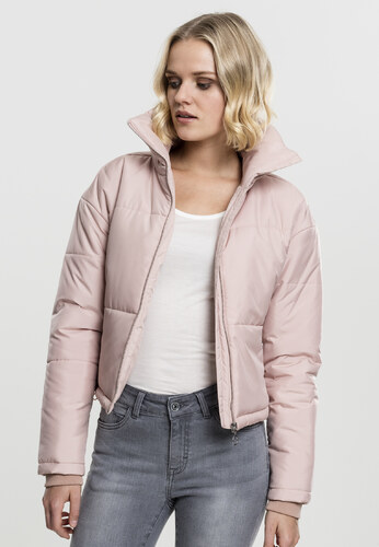 Urban Classics Dámska zimná bunda Ladies Oversized High Neck Jacket rose 0d4b7560335