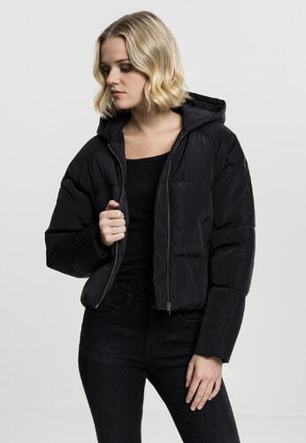Dámska čierna bunda s kapucňou Urban Classics - Glami.sk a4d4e1d8180