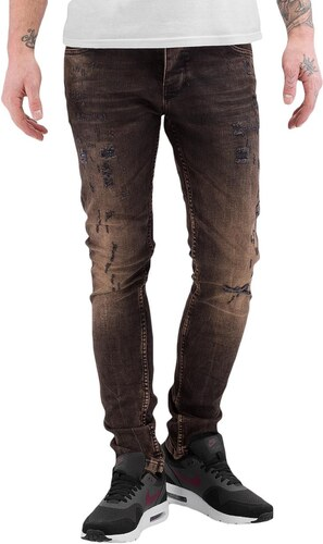 2Y PREMIUM 2Y kalhoty pánské Used Skinny Jeans Brown - Glami.cz 63e84f00f8