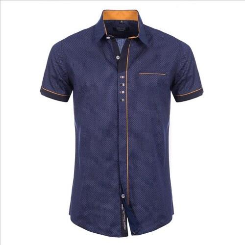 CARISMA košile pánská 9089 krátký rukáv slim fit - Glami.cz 2995bde65f