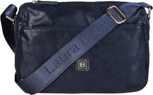 a68b0b684 LAURA BIAGIOTTI Dámská metalická kabelka typu Crossbody Laura Biagiotti  Modrá