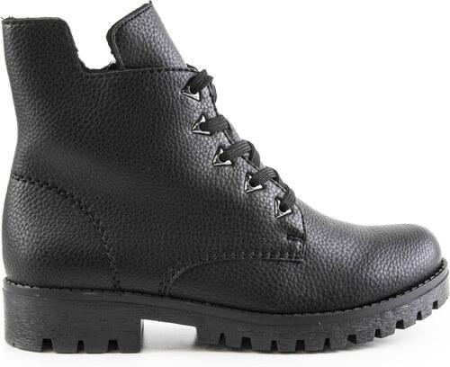 Rieker - Dámské zateplené kotníkové boty na nízkém podpatku se zipem šíře G  785A8-00 3d515e5db4d