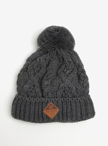1555eed50 Sivá dámska zimná čiapka s brmbolcom Horsefeathers Gisa - Glami.sk