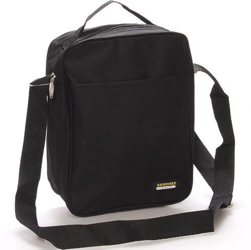 ffc8b52605b9 Čierna pánska taška na doklady - Sanchez Marcos čierna - Glami.sk