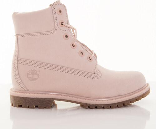 Dámske ružové vodeodolné kožené zimné topánky Timberland 6-INCH ... 9fab5194b9d