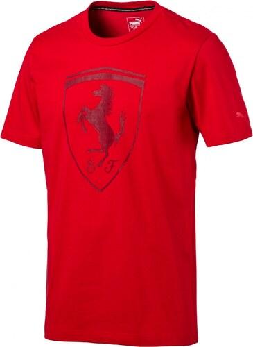 Pánské tričko Puma Ferrari Ferrari Big Shield Tee Rosso C Rosso Corsa d2175086ea