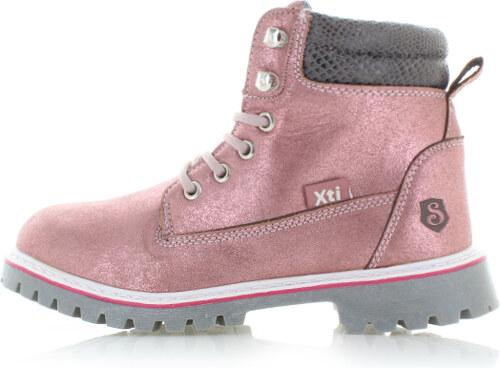 Dětské světle růžové kotníkové boty XTI 55158 - Glami.cz d6036cefcd