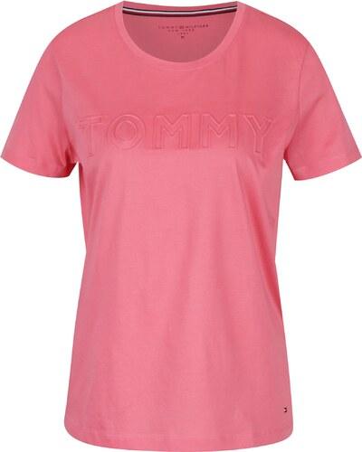 Ružové dámske tričko Tommy Hilfiger - Glami.sk 72d2ed8250