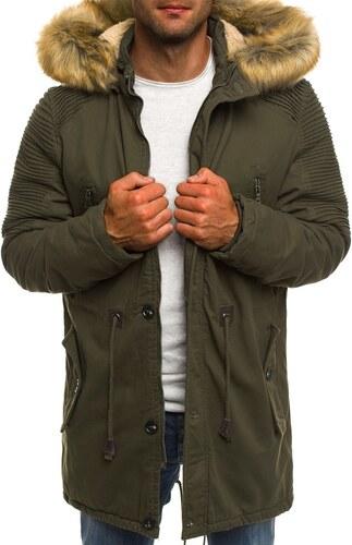 Khaki zöld téli parka kabát AK-CLUB YL003 - Glami.hu d71a76bbe8