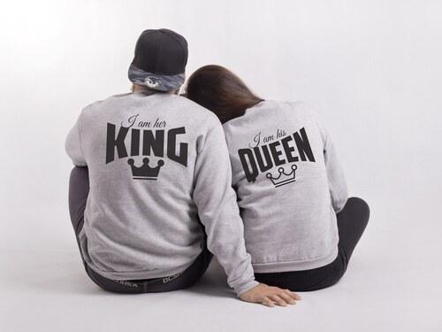 Mikiny His Queen   Her King bez kapuce (cena za obě mikiny) - Glami.cz 69fccd3e718