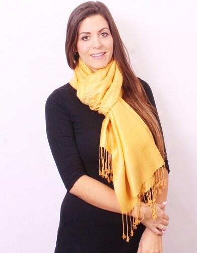 Silk Worm Velký kašmírový šátek - zlatý - Glami.cz ffd26fc99a