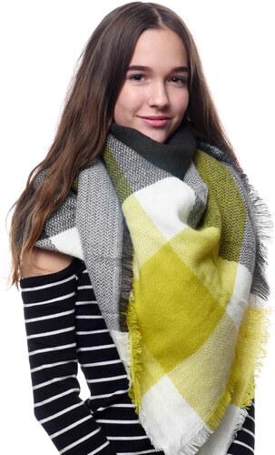Silk Worm Velký vlněný šátek žlutý - 16075 - Glami.cz 247fbd3baf